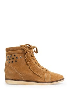 Suede wedge sneakers