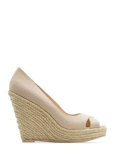 Espadrille wedge peep-toes