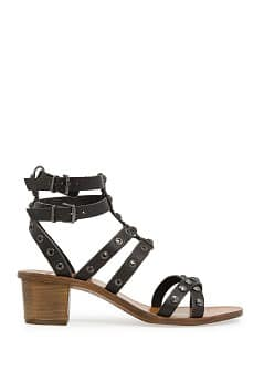 Studded gladiator leather sandals