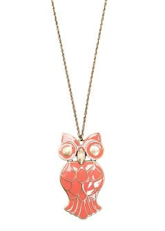 Collier hibou maill