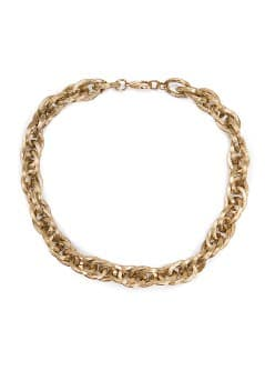 Embossed links choker