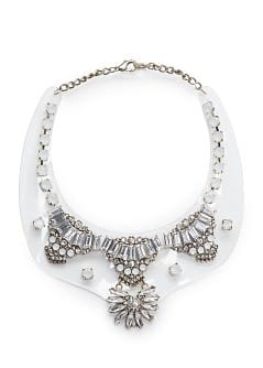 Crystal embellished transparent necklace