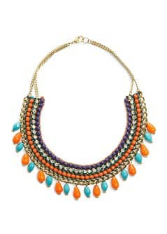 Collier ethnique multicolore