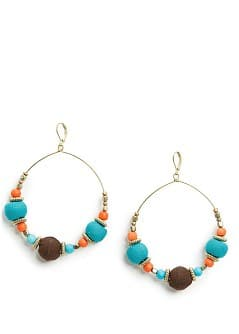 Multicolored hoop earrings