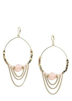 Chains hoop earrings