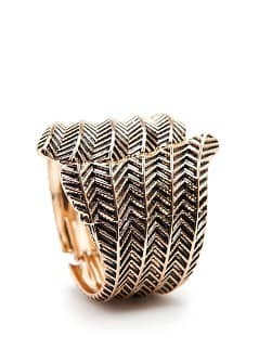 Feather embossed cuff