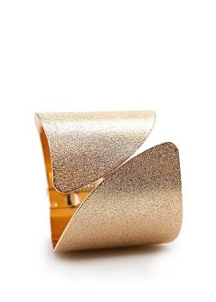 Embossed metallic cuff