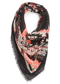 Ethnic print scarf