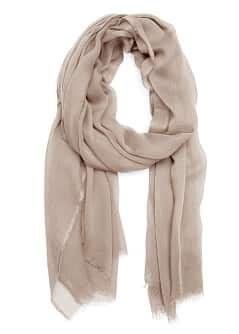Foulard bordures effiloches