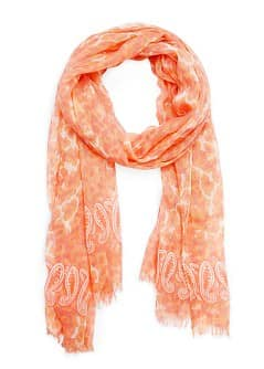 Animal print foulard