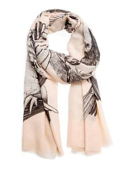 Birds print foulard