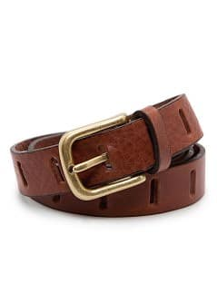 DRILLED LEATHER BELT