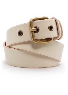 Rivets leather belt