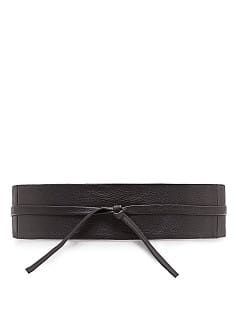Ceinture large en cuir