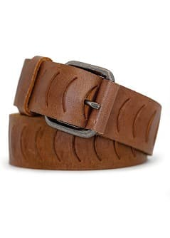 NOTCHED LEATHER BELT