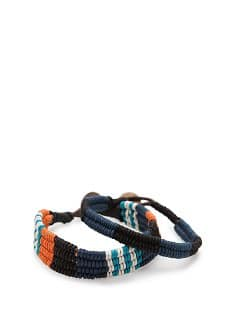 SET OF TWO WOVEN BRACELETS