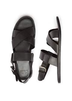 LEREN SANDALEN MET RIEMPJES