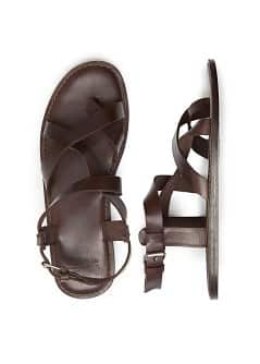 Sandalen met leren riempjes