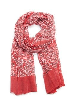 PAISLEY PRINT FOULARD