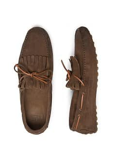 MOCASSINS DAIM FRANGES