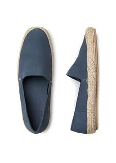 Nubuck espadrille style shoes
