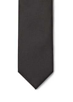 Textured satin tie