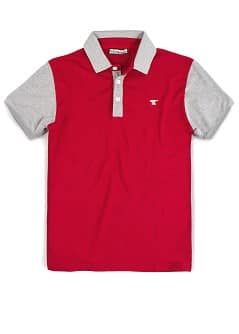 CONTRASTED SLEEVES PIQU POLO SHIRT