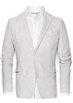 Linen cotton-blend striped blazer