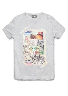 T-shirt imprimé collage