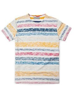 Reverse cotton striped t-shirt