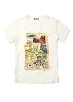 T-shirt met collage print