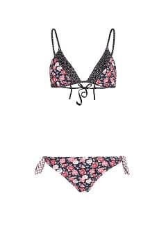 TOUCH - Flowers and polka-dot triangle bikini by Guillermina Baeza