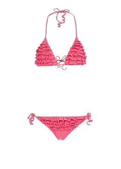TOUCH - Washed effect ruffled bikini by Guillermina Baeza