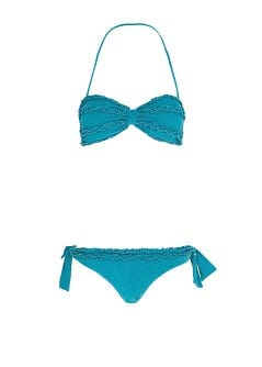 TOUCH - Bikini bandeau volants effet dlav par Guillermina Baeza
