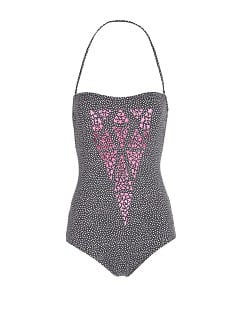 TOUCH - Laser-cut polka-dot swimsuit by Guillermina Baeza