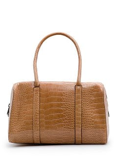TOUCH - Faux croc bowling bag