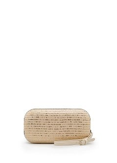 TOUCH - Metallic woven box clutch