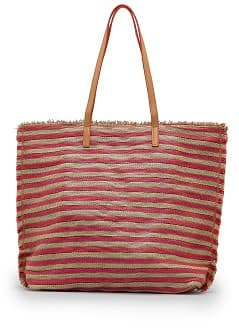 TOUCH - Striped woven shopper