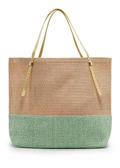 TOUCH - Bolso tote paja bicolor