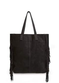TOUCH - Fringed suede bag