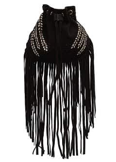 TOUCH - Fringed bucket bag
