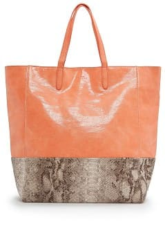 TOUCH - Snake skin panel shopper