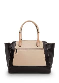 TOUCH - Color block tote bag