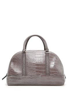 TOUCH - Croc embossed bowling bag