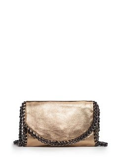 TOUCH - Metallic tas met kettingen