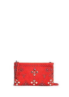 TOUCH - Studded suede bag