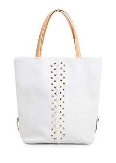 TOUCH - Studded canvas shopper