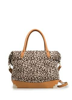 TOUCH - Carteira tote estampado leopardo