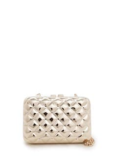TOUCH - Quilted metal box clutch