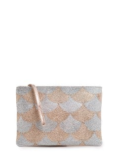 TOUCH - Clutch metalizado jacquard escamas